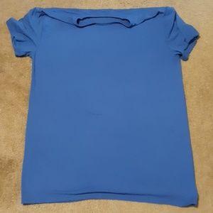Stretchy mens blue shirt